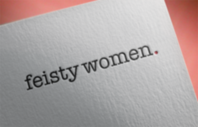 Feisty Women logo and letterhead design by The Malting House Design Studio