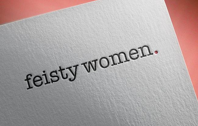 Feisty Women logo and letterhead design by The Malting House Design Studio