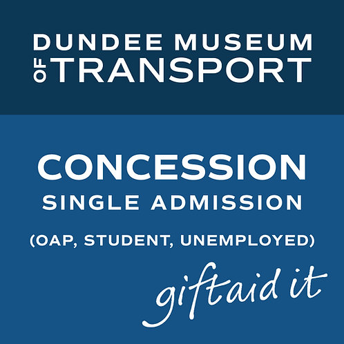 Concession Single Admission Ticket with Gift Aid donation