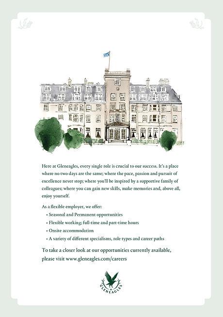 Gleneagles recruitment flyer