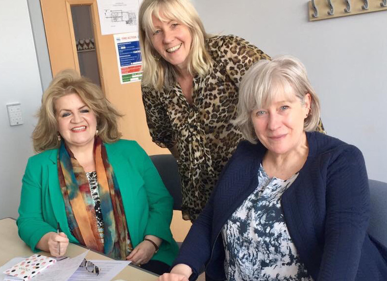 Feisty Women Vice-Chair Sandra Burke, Vice-Chair Anne Rendall and Chair Ann Porter