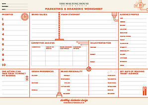 The Malting House Branding and Marketing Worksheet