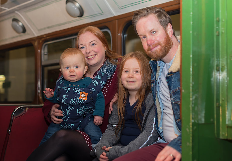 A family enjoying Dundee Museum of Transport