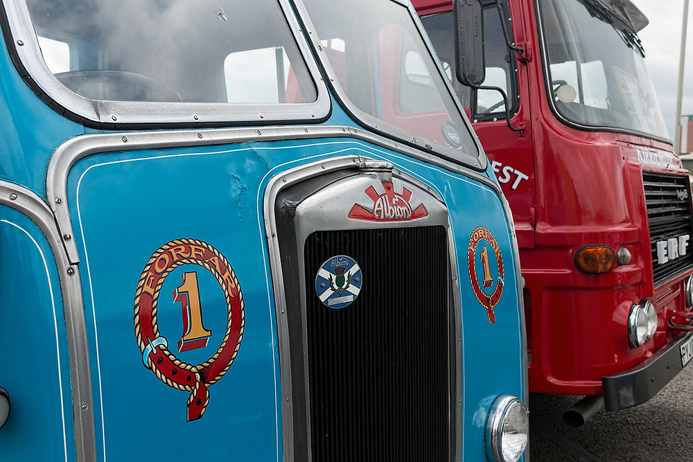 Vintage trucks at Dundee Museum of Transport