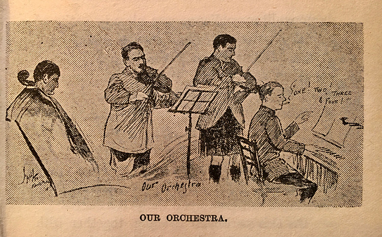 "Illustration of ""Our Orchestra"" from the book Battle of the Ballads by Joseph Lee"