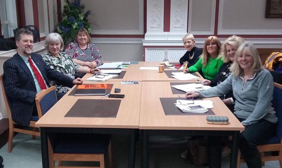 Feisty Women committee meeting