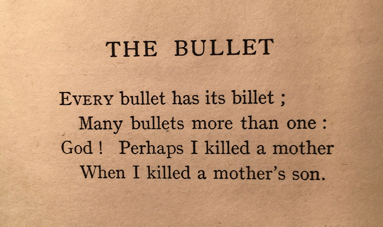 "The poem ""The Bullet"" by Joseph Lee"