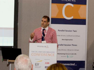 Kevin Gray speaking at Oil & Gas Industry Conference in Aberdeen
