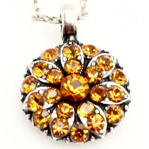 November - Topaz Birthstone Crystal Guardian Angel Necklace