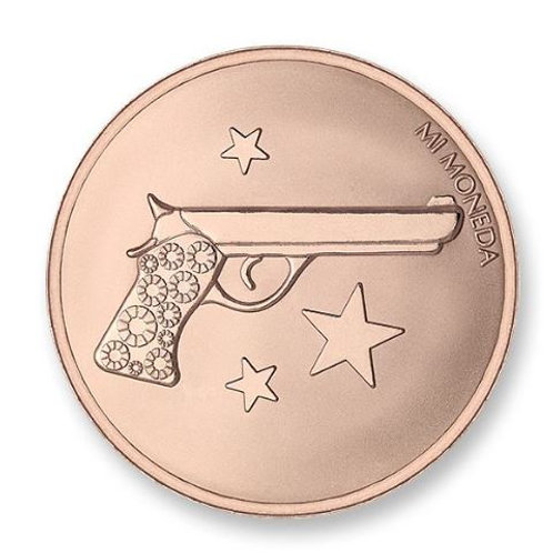 AIM HIGH & PISTOL ROSEGOLD PLATED (Small)