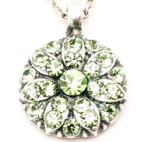 August Peridot Birthstone Crystal Guardian Angel Necklace