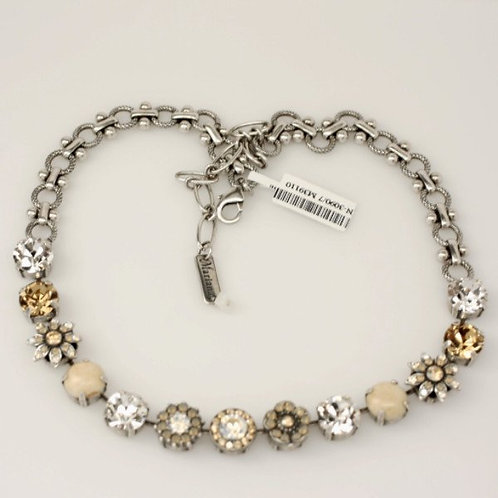 Champagne and Caviar Mineral Flower Necklace