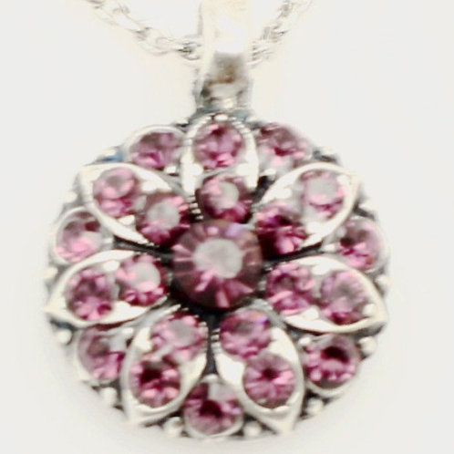 February Amethyst Birthstone Crystal Guardian Angel Necklace