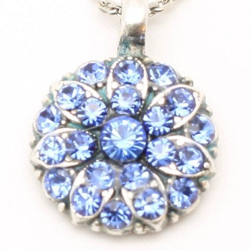 March Aquamarine Birthstone Crystal Guardian Angel Necklace