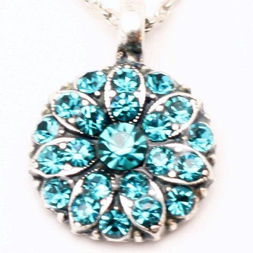 December Tanzanite Birthstone Crystal Guardian Angel Necklace