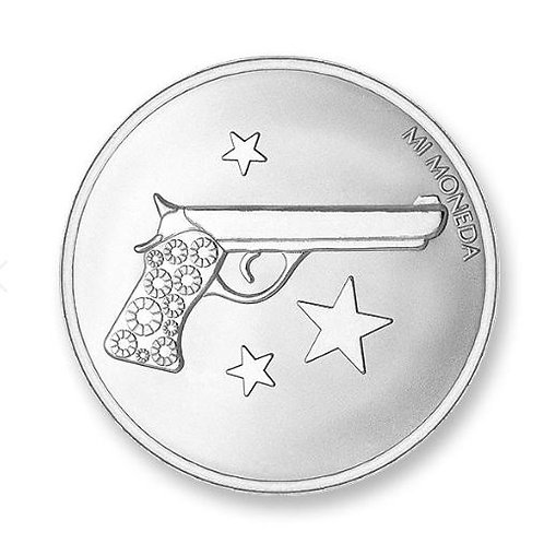 AIM HIGH & PISTOL SILVER PLATED (Small)