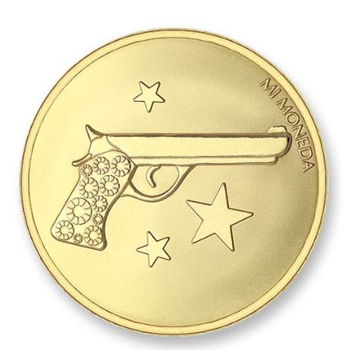 AIM HIGH & PISTOL GOLD PLATED (Small)