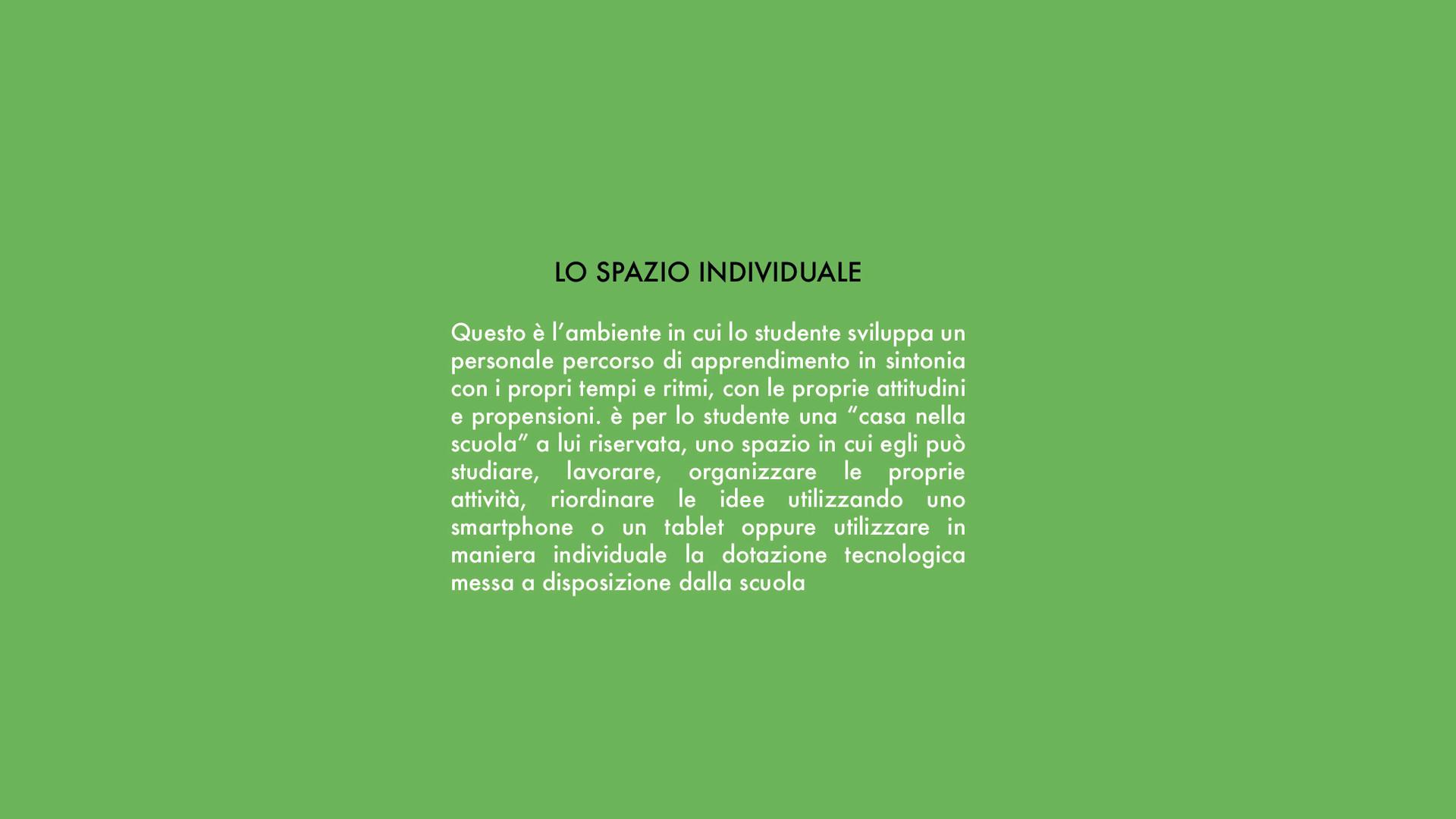 lo spazio individuale