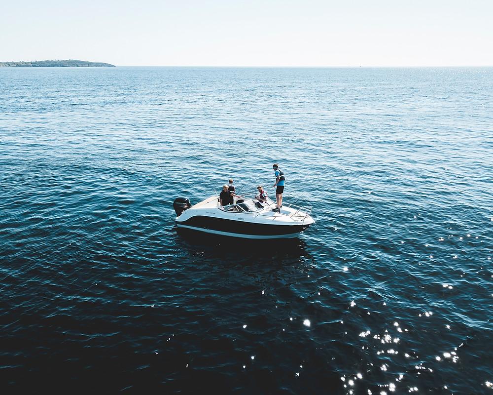 panne en bateau