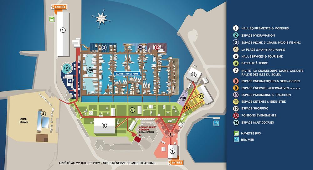 Plan Salon nautique Grand Pavois La Rochelle