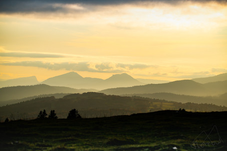 Sunset on the Jura from Soliat