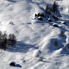 Rivulettes sur la neige