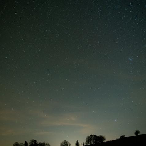Night sky at Creux du Van