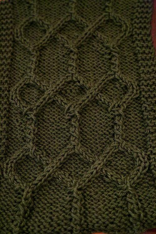Handknit Scarf - Dark Green