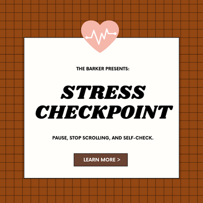 STRESS CHECKPOINT: Pause, Stop Scrolling, and Self-check.