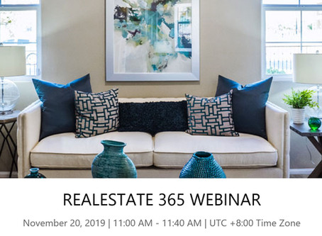 Real Estate Solution Webinar 20 Nov 2019