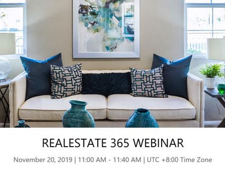 Real Estate Solution Webinar 20 Nov 2019