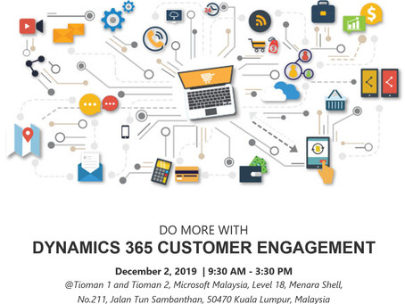 Do More with Microsoft Dynamics 365 Customer Engagement 2 Dec 2019