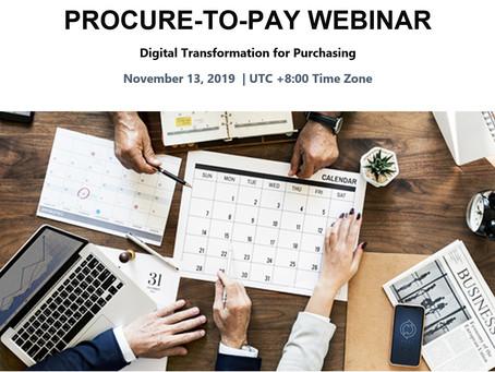 eProcurement Webinar on 13 Nov 2019