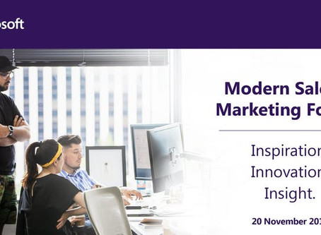 Visit V-Work's booth at Microsoft Seminar 20 Nov - Modern Sales & Marketing Forum