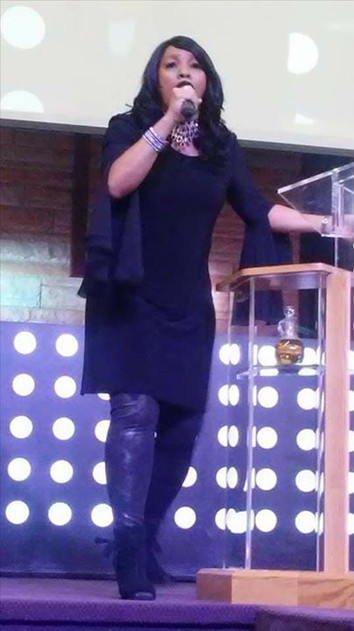 My Co-Pastor Kim Lyons powerful preacher