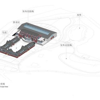 室内竞技场和马场的鸟瞰草图