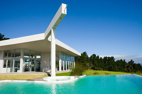 Luxury home with pool.