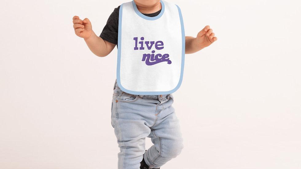 Embroidered Baby Bib