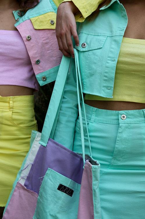 Jeans Distressed Tote Bag