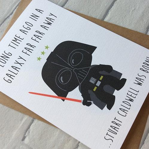 Personalised Darth Vader Star Wars Inspired Funny Birthday Card