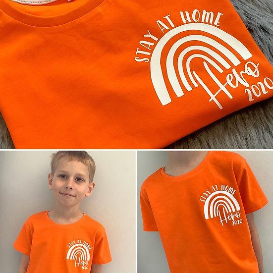 Kids Stay At Home Hero 2020 T-Shirt