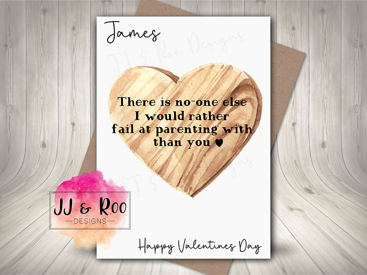 Personalised Valentines Day Card: Fail at Parenting
