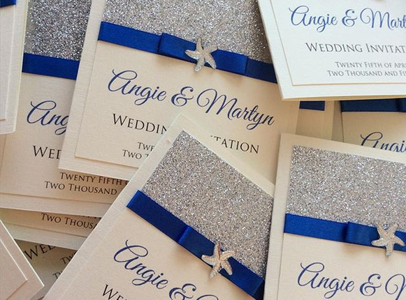 Beach Themed Wedding Invites #weddinginv
