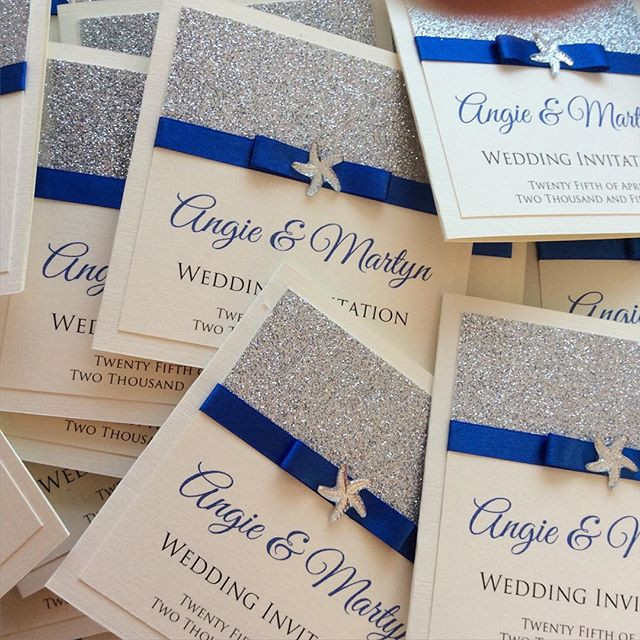 Beach Themed Wedding Invites #weddinginv