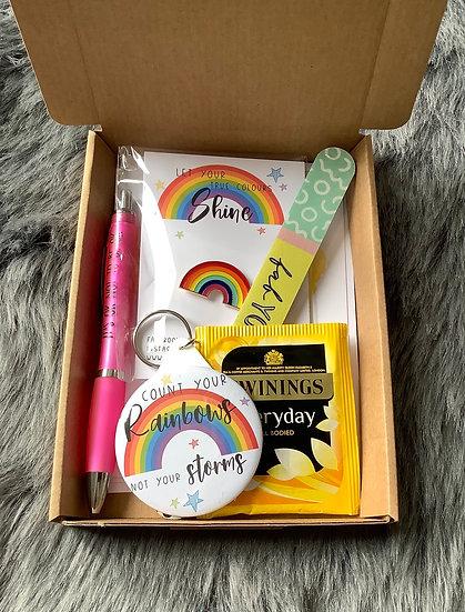 Mini Letterbox Rainbow Pick Me Up Gift Box, Positivity, Mystery Box