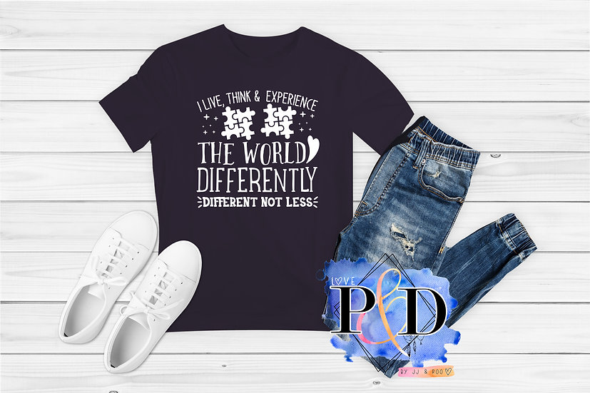 Different Not Less: Children's Autism Awareness T-Shirt