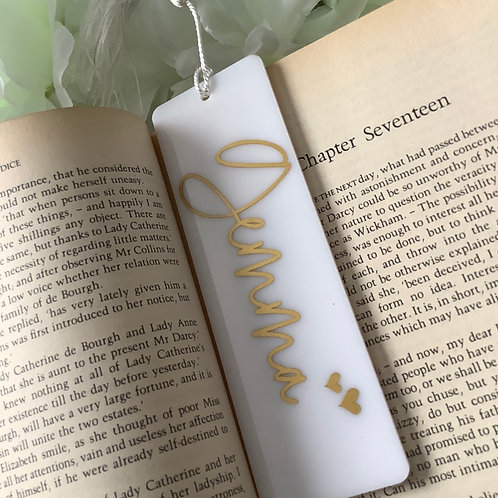 Personalised Acrylic Bookmark: Booklover Gift, Any Name