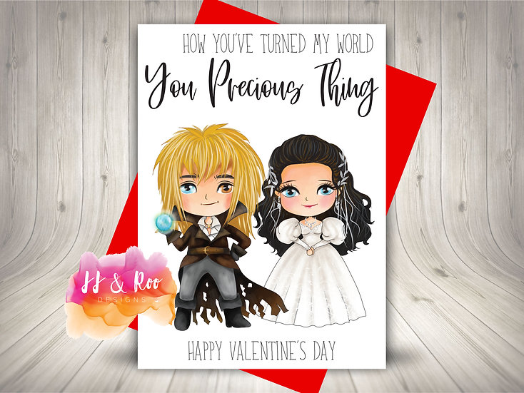 Labyrinth Movie Inspired Valentines Card: You Precious Thing