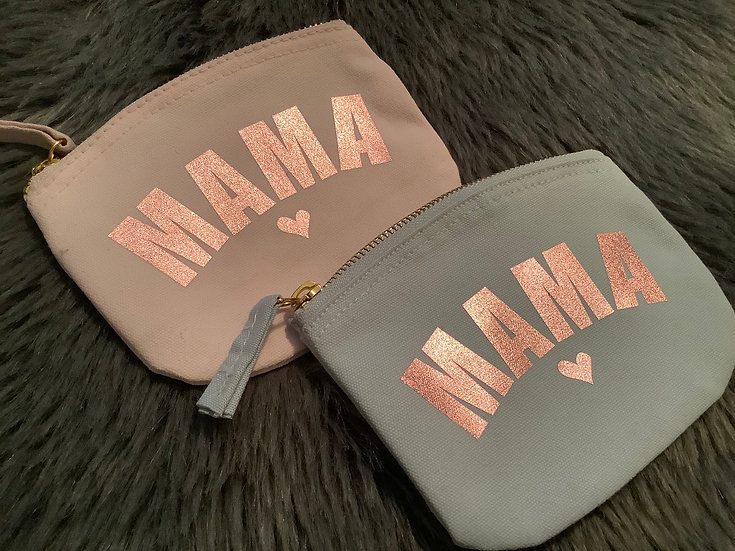 Mama Organic Cotton Canvas Purse, Mothers Day Gift