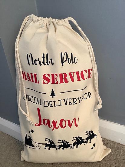 Personalised Childs Christmas Eve Bag, Santa Sack, Xmas Toy Sack